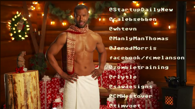Old Spice Guy Manta Claus