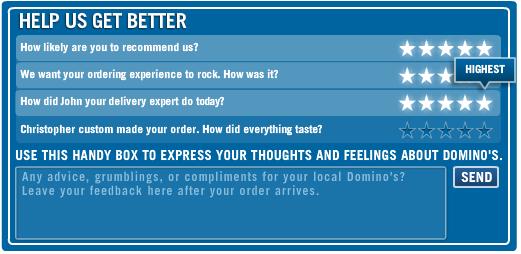 Domino's Pizza Tracker Survey