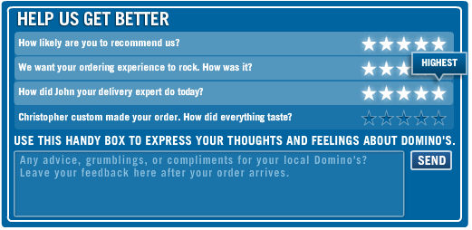 Domino's Pizza Tracker Survey