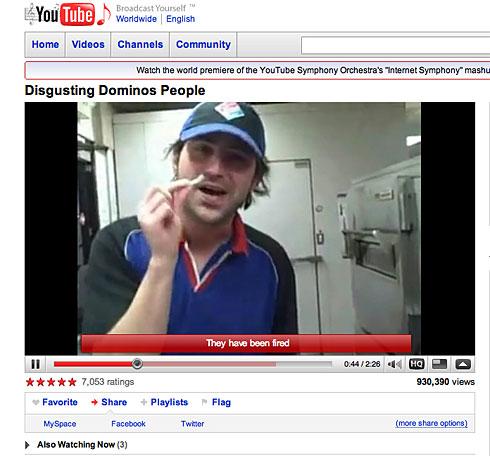 Domino's Gross Video