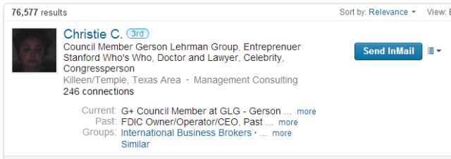 LinkedIn New Advanced People search classmate results