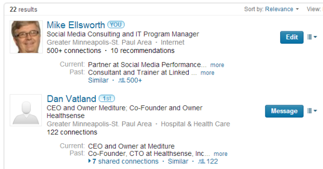 LinkedIn New Advanced People search results