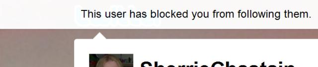 Twitter blocked user message