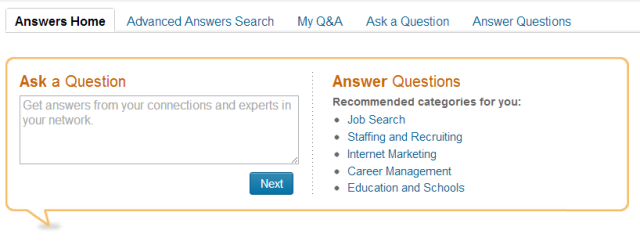 LInkedIn Ask a Question