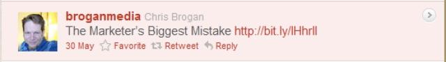 Twitter retweet example 1