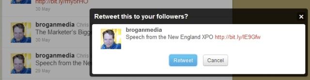 Twitter retweet example 2