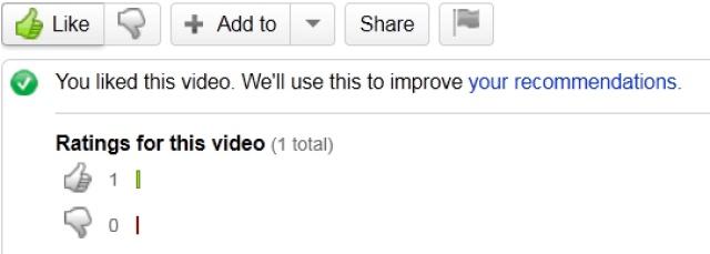 YouTube Like video